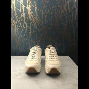 Zara Animal Print Platform Sneakers